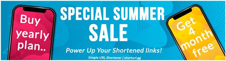 Simple URl Shortener | summer sales get 4 months free